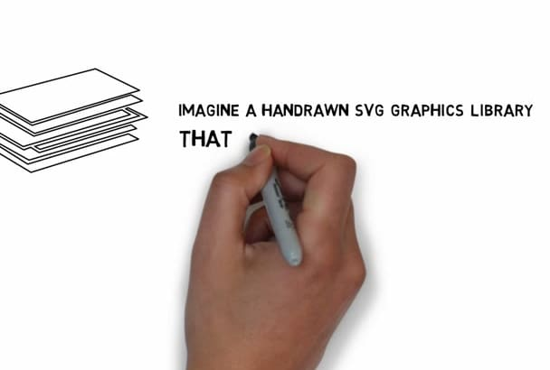 give you 100 High Quality SVG whiteboard graphic pack