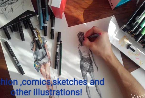 draw a fashion design sketch