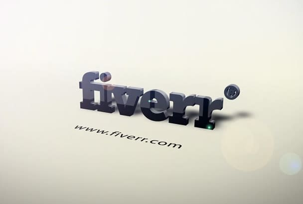 produce 3D logo intro Animation