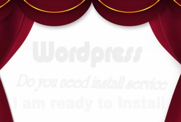 install, configure wordpress CMS on your Hosting