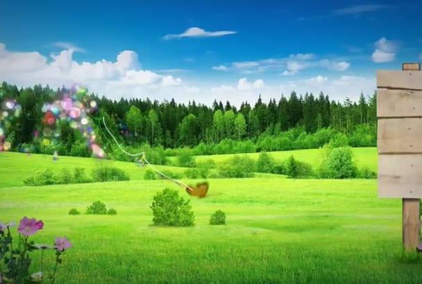create NATURAL scenic refreshing intro
