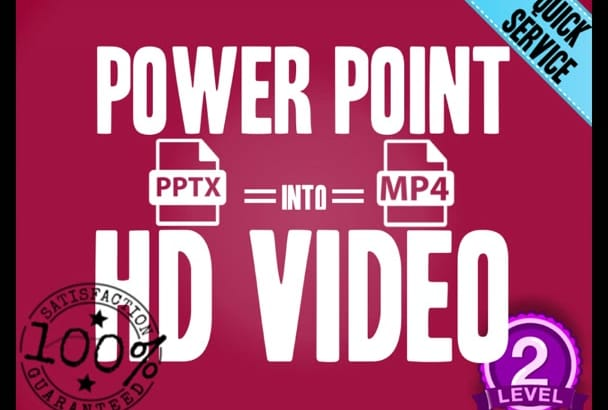 convert your PRESENTATION into HDVideo