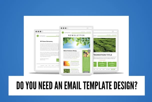 design stunning Email Template