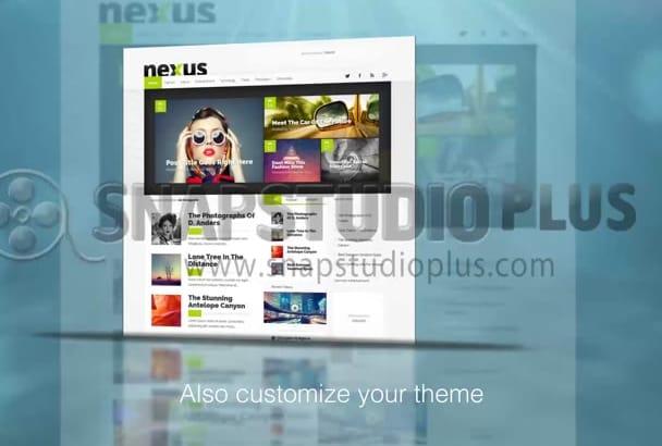 install or customize your wordpress theme