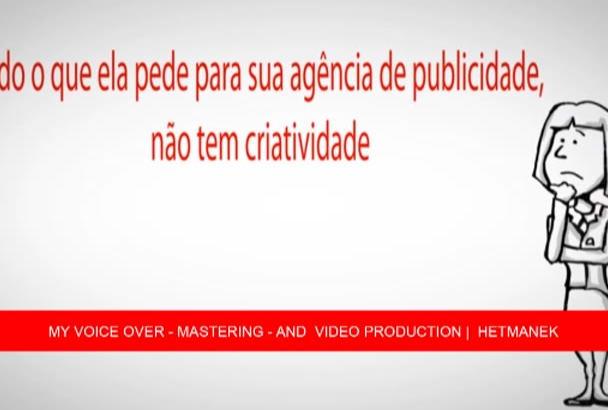 voice over in Brazilian portuguese