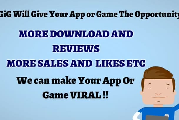 do MEGA promotion for any app and game to 13 million fans