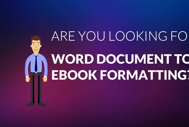 format Word Documents to any eBook estore