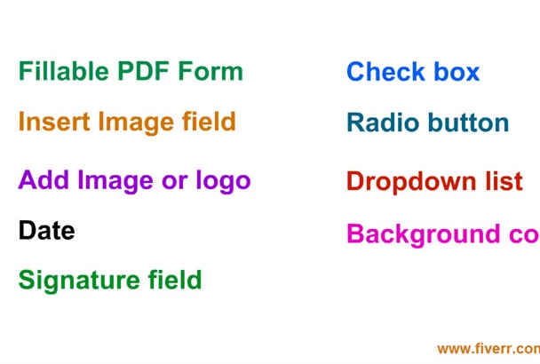 design, Create or Convert Fillable PDF Form