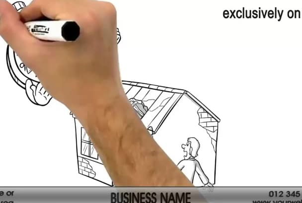 create a Roof Repair Whiteboard Video Animation 2