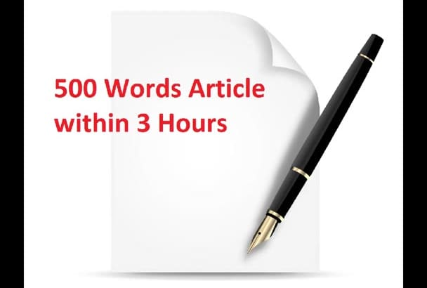 write 500 words article in 3 hours