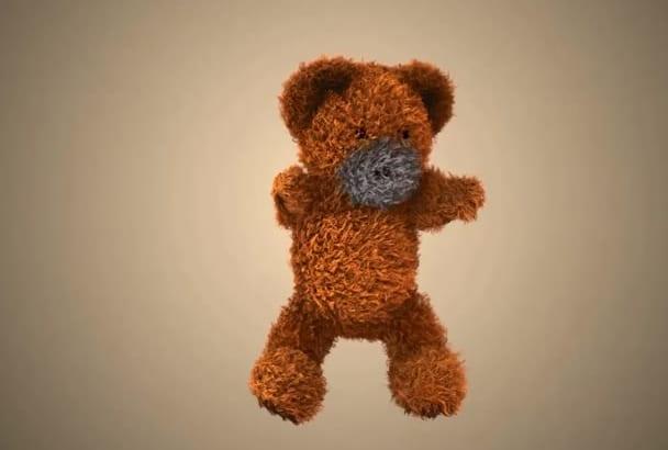create Dancing Teddy Bear Video Logo Reveal