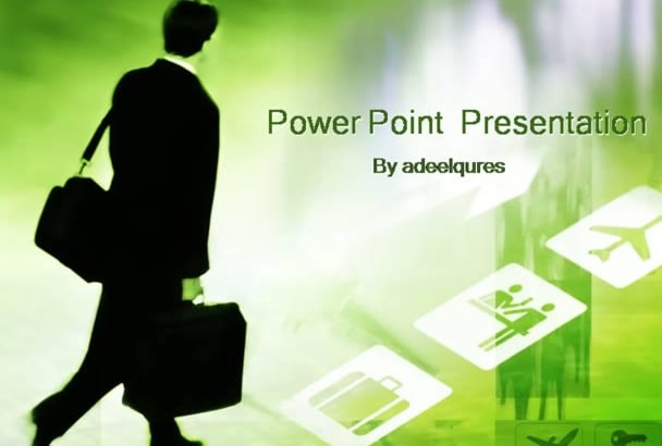 make your presentation in power point