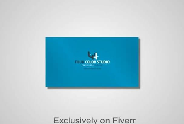create a Creative Professional Business card