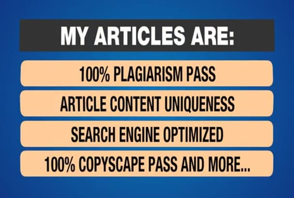write Unique Content and Seo ARTICLE Writing