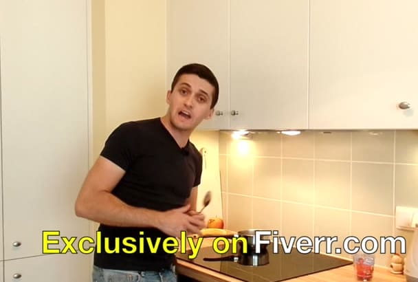 say Anything You Want While Cooking In A HD Video, In Italian, English, Spanish
