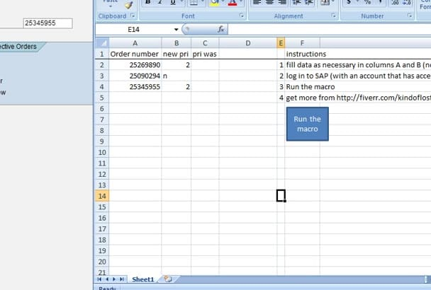 automate SAP processes with a macro
