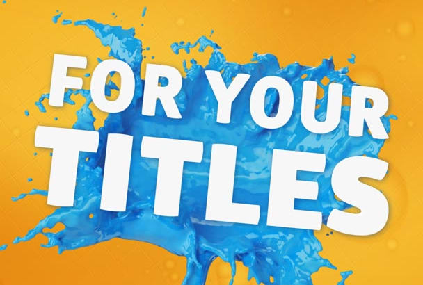create Beautiful Paint Splash Video
