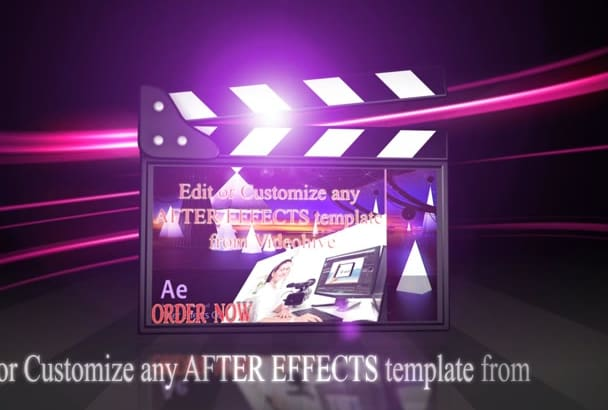 edit or Customize any AFTER Effects template from Videohive