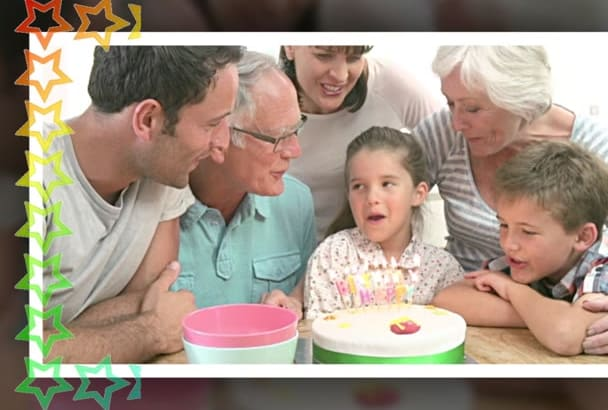 make a video slideshow for BIRTHDAY