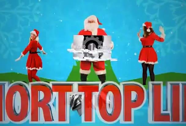 create this Christmas SANTA Holiday Jingles Intro