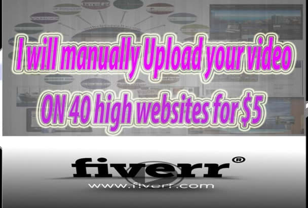 manually Upload your video on 40 high websites