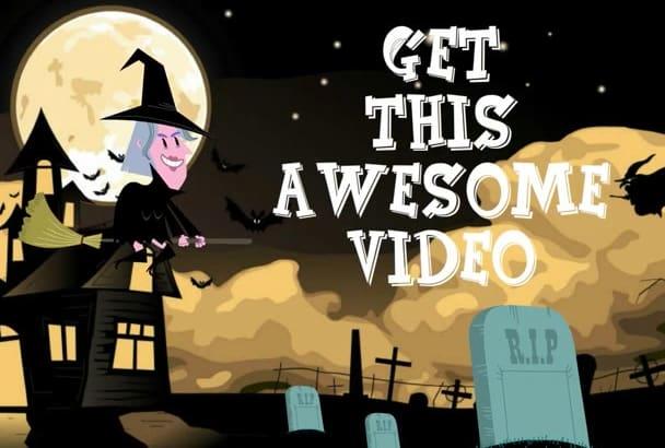 create an awesome halloween video