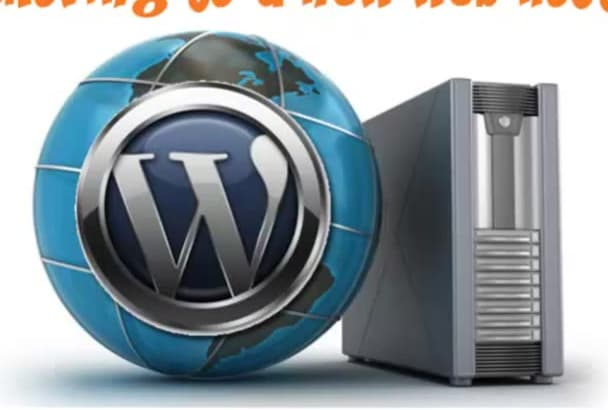 move your wordpress website or blog to your web host