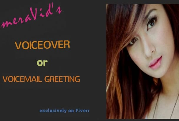 deliver American Female VOICEOVER or Voicemail greeting
