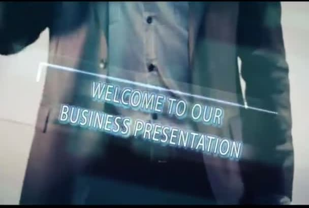 create elegant business presentation promotion