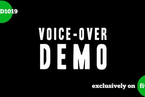 record female voiceover for any project
