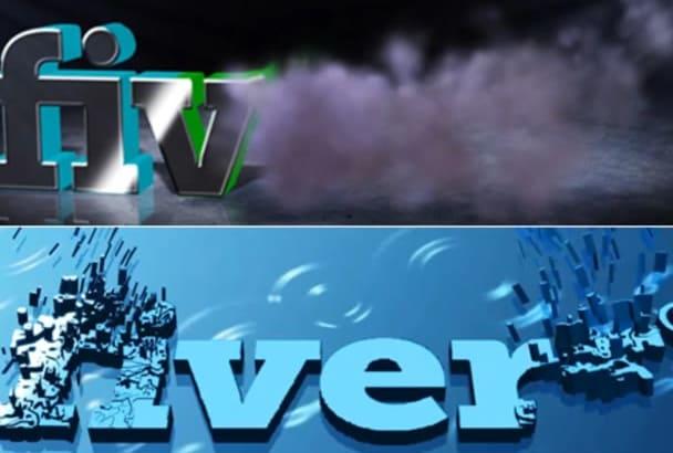 create 3D Text or 3D Smoke Logo Intro