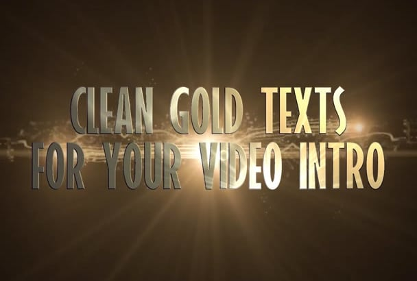 video intro with clean GOLD font cinematic