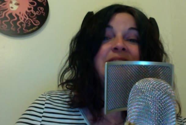 record a scifi robotic voice