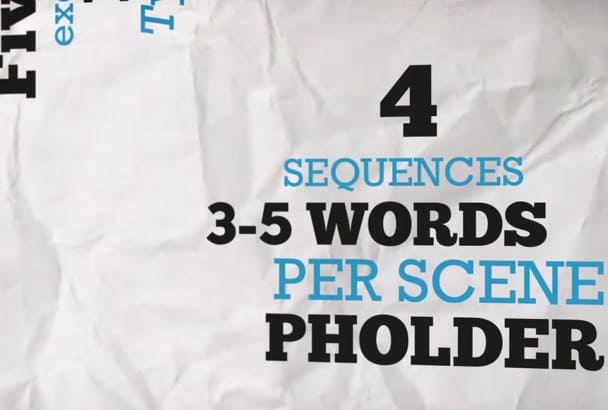 do a 3D KINETIC Typography Video