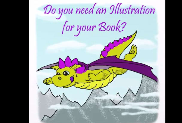 create a fantasy or realistic illustration for your book