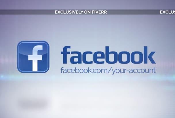 create an animated Social Media opener