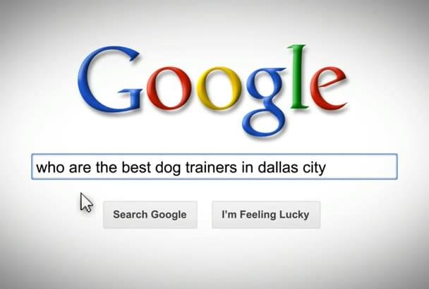 make amazing Google search logo promo