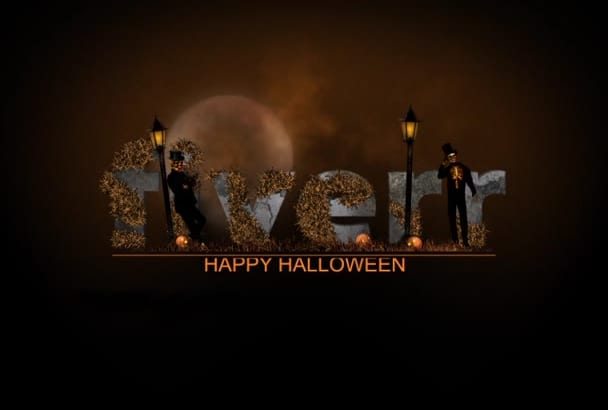 create Spooky Halloween video