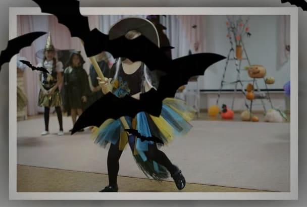 make a funny video SLIDESHOW for Halloween