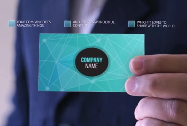 make a Short Video to Present Your Business Card