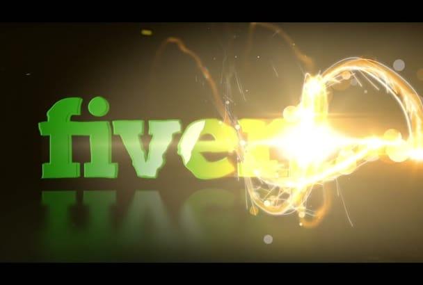 create a FASTLIGHT Reveal Logo Stinger Intro