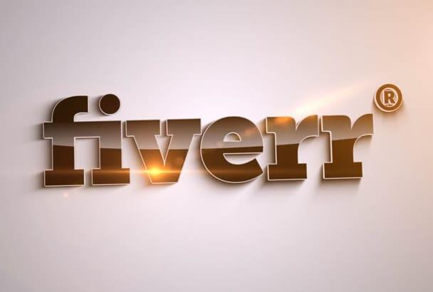 create a Logo Animation Video