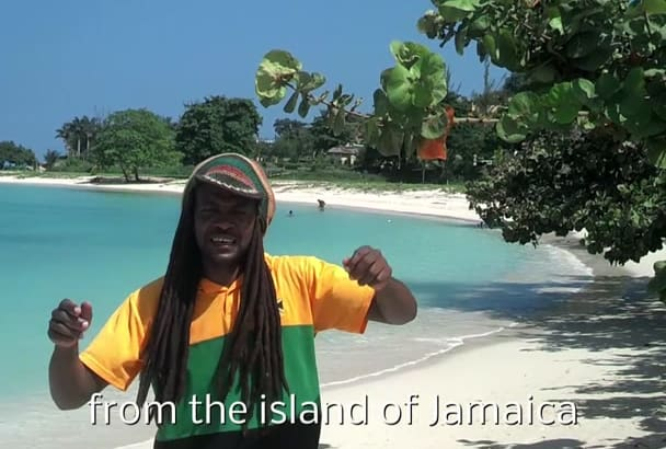 do Birthday video as Rastafarian on Jamaican Beach