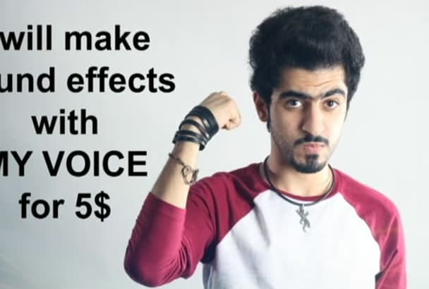 make sound effects with my voice