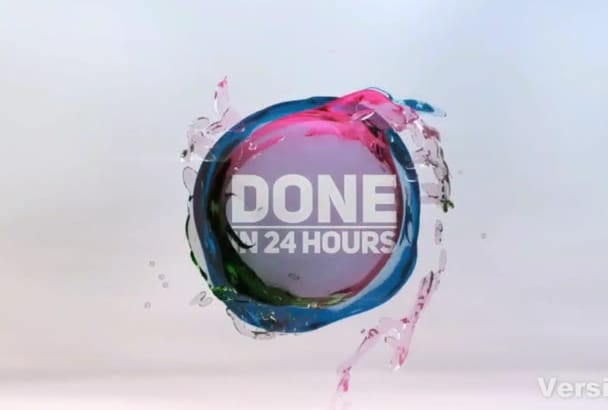 produce an Amazing 3D Intro LOGO Reveal in 24 hours