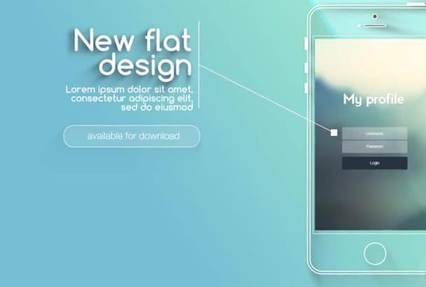 create CRYSTAL transparent mobile app Explainer video