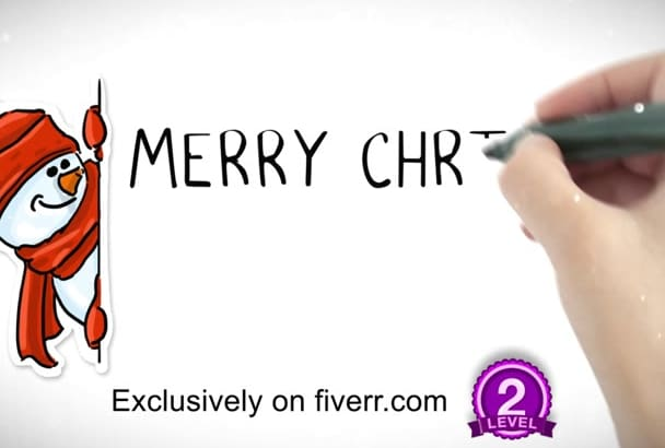 make Christmas Video in Whiteboard Style