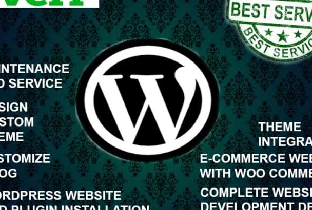 create a wordpress website or wordpress design in 48 hours