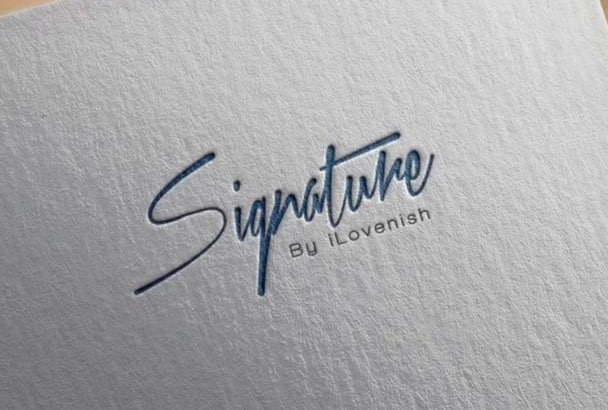 do PROFESSIONAL Signature Logo design