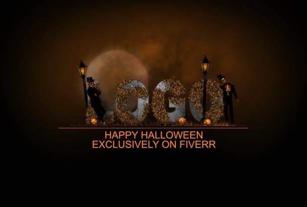 create Amazing Halloween Logo Intro